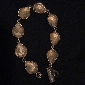 Kendra Scott gold bracelet with clear stones